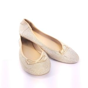 Report | Gold Sparkly Ballet Flats Size 8.5